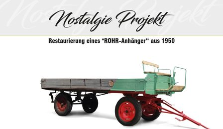"Nostalgia Project - Restoration of a ""ROHR Trailer"" from 1950"